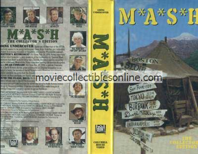 M*A*S*H VHS - Potter's Retirement, Dear Comrade, Rally Round the Flagg Boys