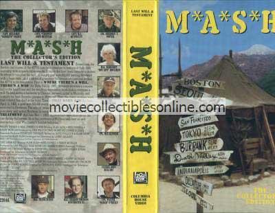 M*A*S*H VHS - Where There's a Will There's a War, That Darn Kid, Trick or Treatment